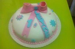 Tarta Lazo rosa