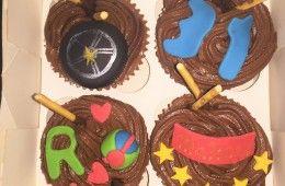 Cupcakes mikado.