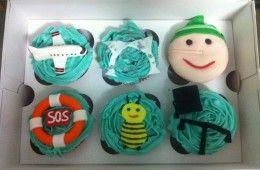 cupcakes variados: de socorrista a abogado